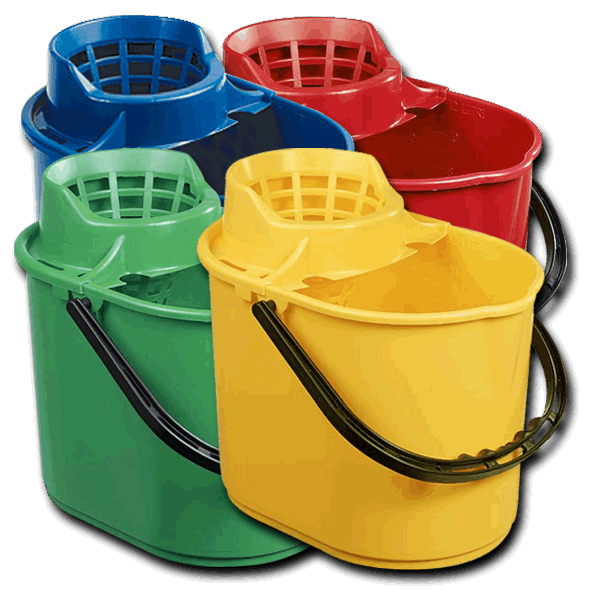 Deluxe Mop Bucket 12 Litre Chemical Solutions